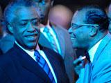迈克尔杰克逊去世 黑人穆斯林领袖路易斯亮相